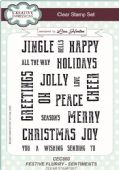 Creative Expressions - Festive Flurry Sentiments  Clear Stamp Set - CEC860